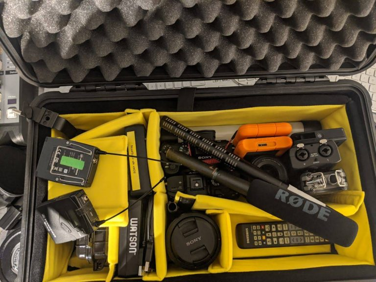 Trial run on packing the pelican case.